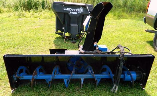 Skid Steer 84 inch Snowblower by Accessories Unlimited, Inc., Barely Used