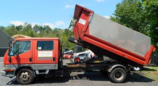2004 Mitsubishi FUSO FE-SP Landscape Dump Truck, Low Miles