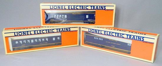 Lionel Electric Trains Wabash Dining, Baggage, and Combo Cars