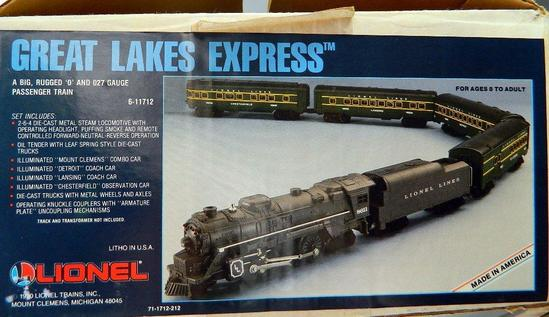 Lionel Great Lakes Express Train Set, NIB