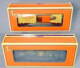 Lionel Boxcars - O-gauge BC and Hellgate Boxcar