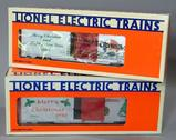 Lionel Electric Trains Christmas Cars, 1986 and 1988