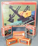 Lionel Flat Car with Steam Shovel Kit and Vintage Accessories