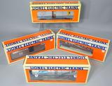 Lionel Electric Trains Gondola, Box Cars, Tank Car