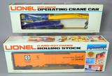 Lionel Operating Crane Car and Famous American Railroad Series Reefer