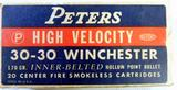 Peters 30-30 High Velocity Vintage Rifle Ammunition, Full Box
