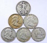 Grouping of Six U.S. Silver Coins