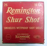 Remington Shur Shot 16 Gauge Paper Shells Ammo Box