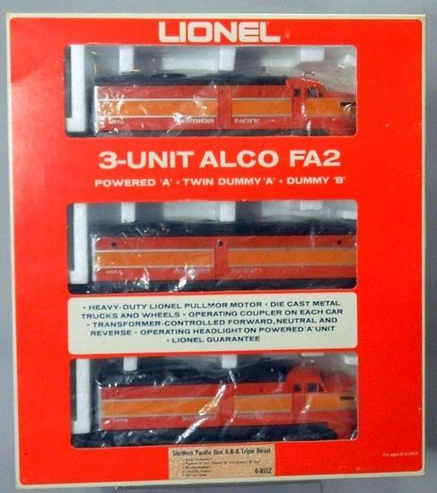 Lionel 3-Unit ALCO FA-2 Southern Pacific Triple Diesel Set