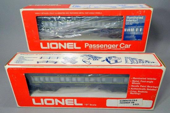 Lionel Sequential Illuminated B&O Passenger Cars