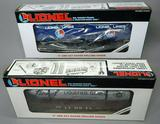 Lionel Liquefied Petroleum Car and Lionel Lines Flatcar with Trailers