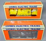 Lionel Chessie System Standard O Square Window Caboose and Fire Car with Ladder