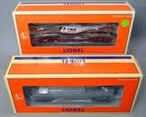 Lionel Flatcars with Beechcraft Bonanza and with ERTL Helicopter
