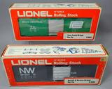 Lionel Penn Central Hi-Cube and Norfolk & Western Hi-Cube Sequential Box Cars