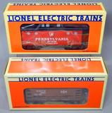 Lionel Pennsylvania Caboose and Bessemer & Lake Erie Ore Car with Load