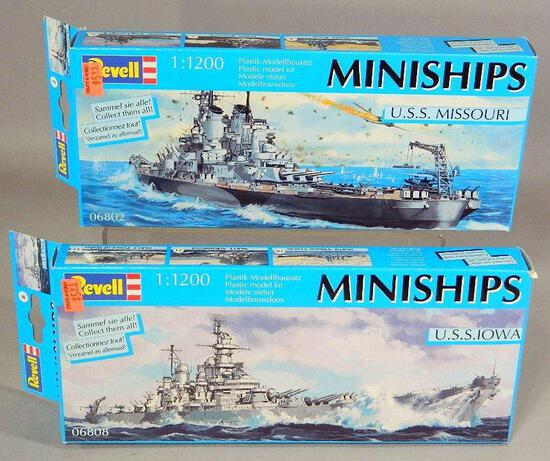 Revell Miniships Model Kits: U.S.S. Missouri and U.S.S. Iowa