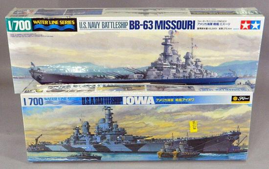 Tamiya and Fujimi U.S. Battleship Model Kits