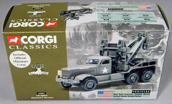 Corgi Classics Die-Cast U.S. Army Diamond T Wrecker Vehicle