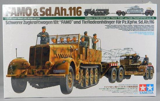 Tamiya German Half-Track FAMO and Tank Transporter Model
