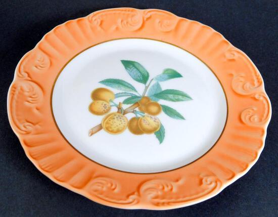 Set of 11 Mottahedeh Fruit Pattern Salad Plates