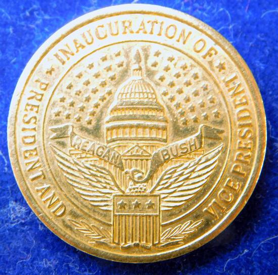 Seven Reagan and Bush Inauguration Buttons