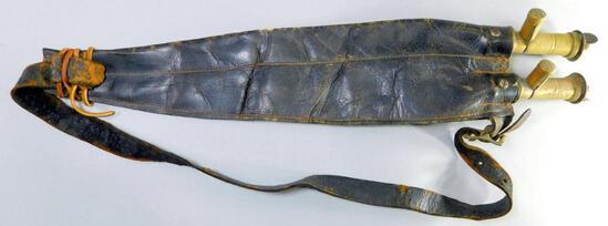 Antique Leather Double Shot Belt