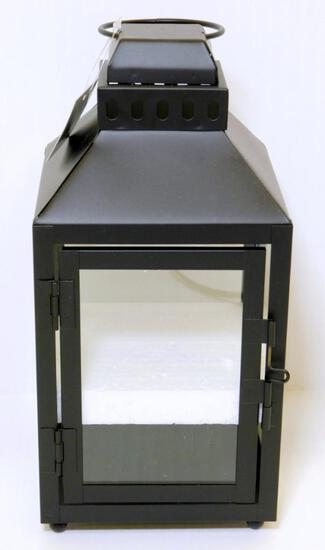 "New 10"" Black Metal Lanterns, 16 Units"