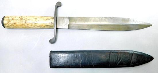 Confederate States Army CSA Civil War Era Bowie Knife & Scabbard