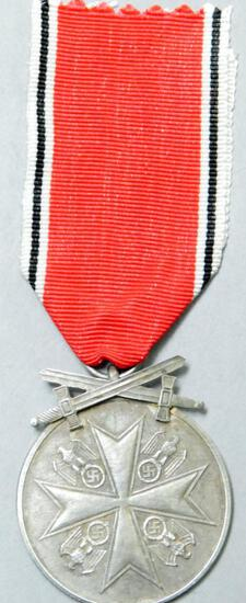 German WWII Silver Order Of The Eagle Merit Medal with Swords