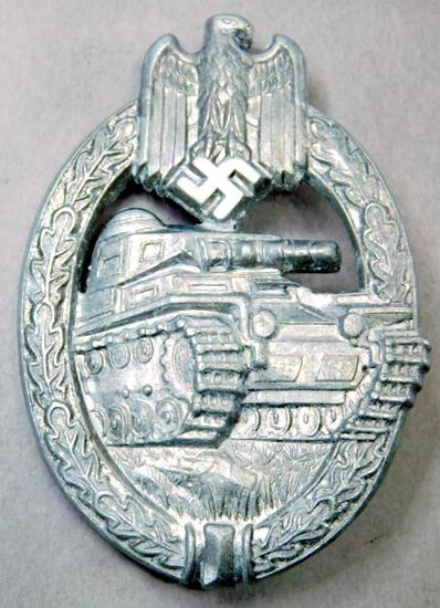 German WWII Army Wehrmacht Silver Tank Assault Badge