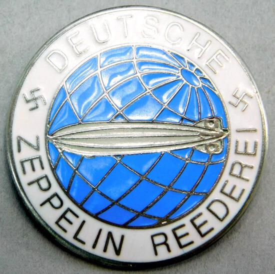 German WW2 Deutsche Zeppelin Reederei Air Ship Badge