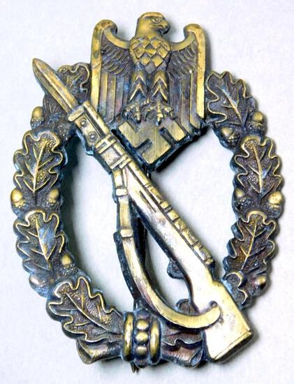 WWII Army Wehrmacht Bronze Infantry Assault Badge