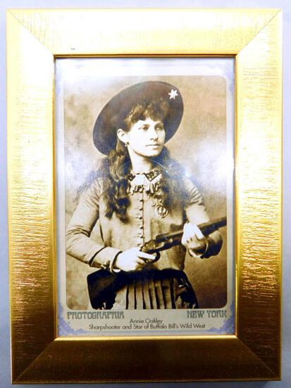 Reprint: Old West Annie Oakley Sharpshooter Photo Postcard