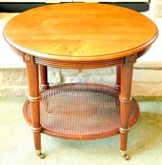 Ethan Allen Oval Table with Casters