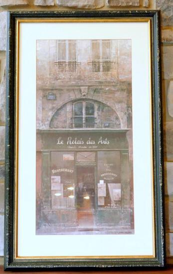 'Le Relais des Arts' by Chiu Tak Hak Framed Photographic Art