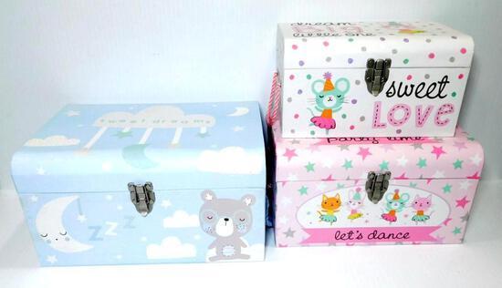 Girl's Keepsake Boxes, 5 Units