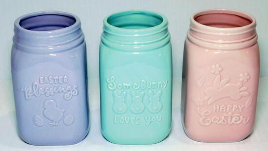 Pastel Decorative Mason Jars, 60 Units