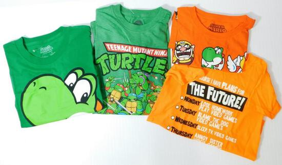 Assorted Children's Licensed T-Shirts, 22 Units