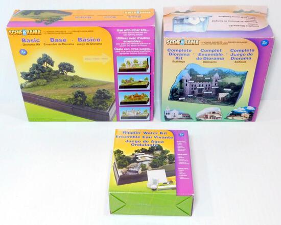 SceneArama Diorama Kits, 19 Units