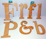 Nicole's Letter Shop Wood Characters, Box Full