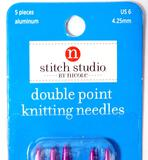 Stitch Studio Aluminum Double Point Knitting Needles Assortment, 55 Units