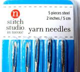 Stitch Studio 2-inch Steel Yarn Needles Pack, 40 Units