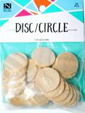 Wooden Disc/Circle Crafts Pieces, 20 Units