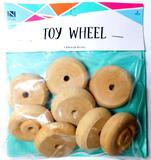 Wooden Toy Wheels, 50 Units
