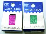 15mm Love Nicole Pink and Green Glitter Washi Tape, Tub Full