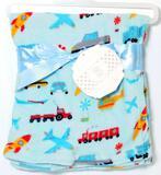 'My Baby' Super Soft Plush Cars and Trucks Blanket, 12 Units