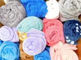 Assorted Style and Color Throw Blankets, 14 Units