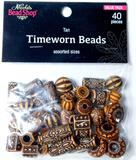 'Timeworn Beads' in Assorted Earthtones, Sizes, and Styles, Box Full