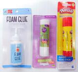 Foam Glue and Glue Sticks, Tub Full