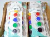 Primary Acrylic Paint Sets with Easy Clean-up, 48 Units